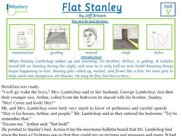 Flat Stanley by Jeff Brown Comprehension KS2