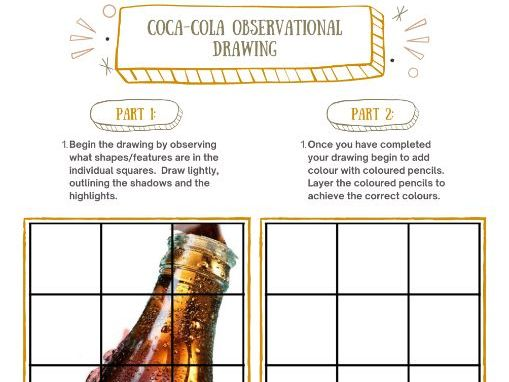 Coca-Cola Observational Drawing Pop Art