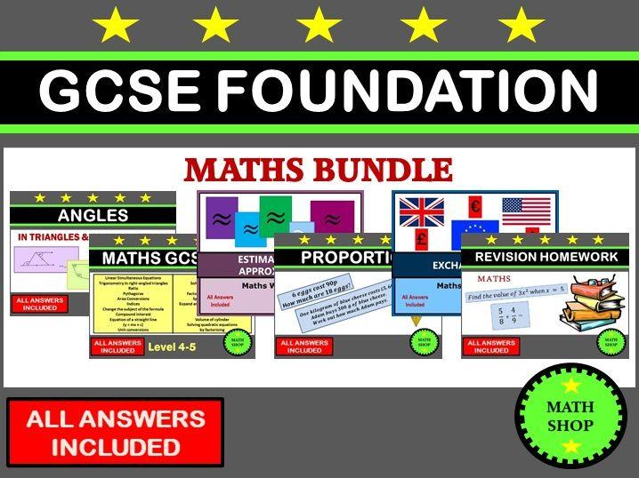 GCSE 9-1 Foundation Revision Bundle