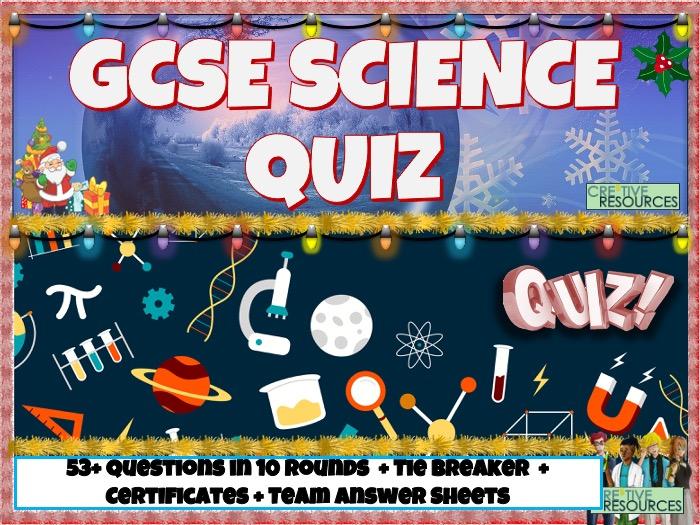GCSE Science Christmas Quiz