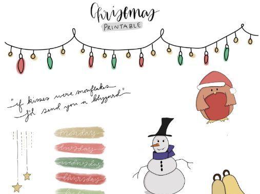 Christmas Theme Printout