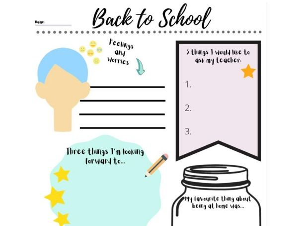 Back to School 2020 Transition Sheet