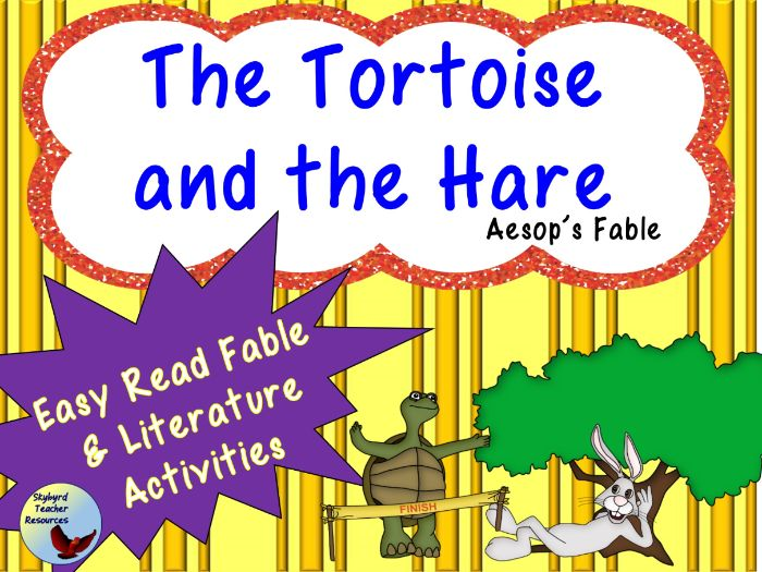 The Tortoise and the Hare Aesop's Fable Reading Comprehension and Literature Activities
