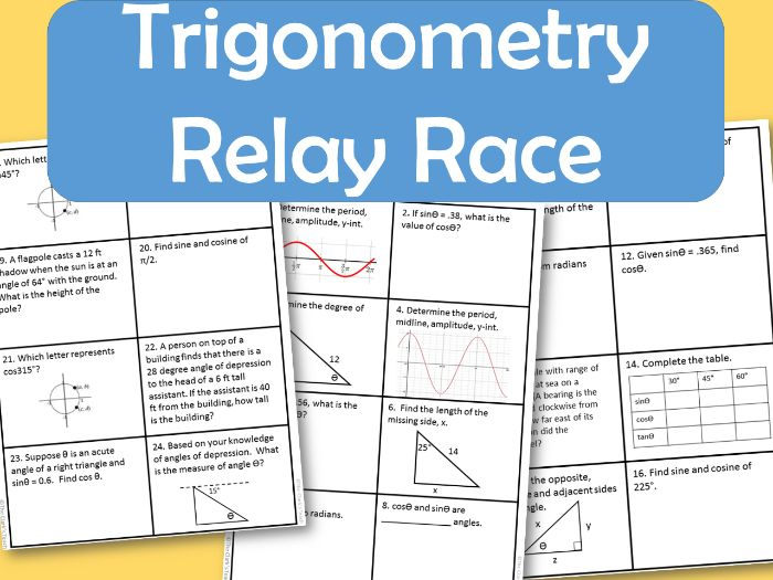 Trigonometry Relay Race (CCSS.HSF.TF.B.7)