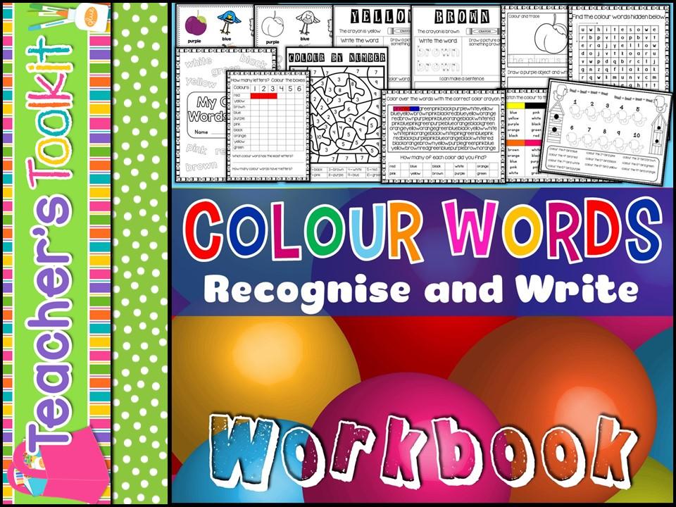 Colour Words Workbook