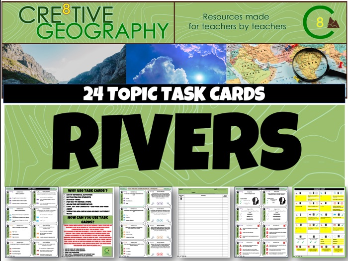 Rivers Geography Task Cards