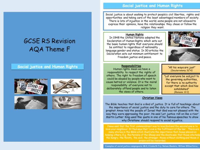 Religion, Human Rights and Social Justice Revision AQA Theme F