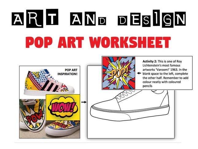 POP ART Worksheet / Cover Lesson / Homework - Art and Design