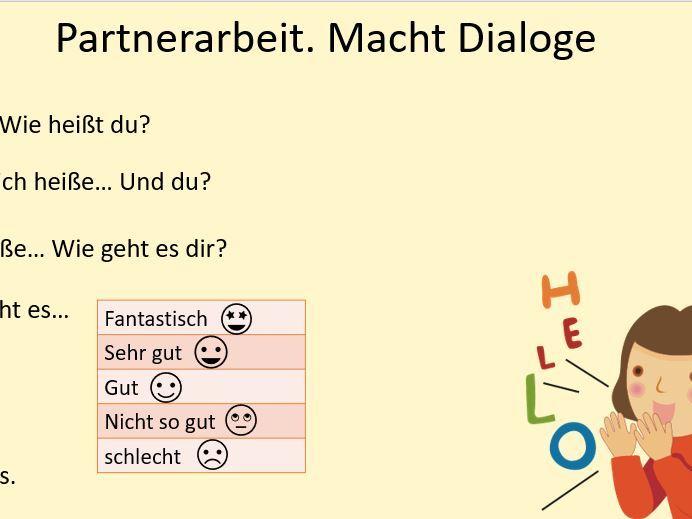 Hallo Einführung Deutsch Introductory lesson Year 7