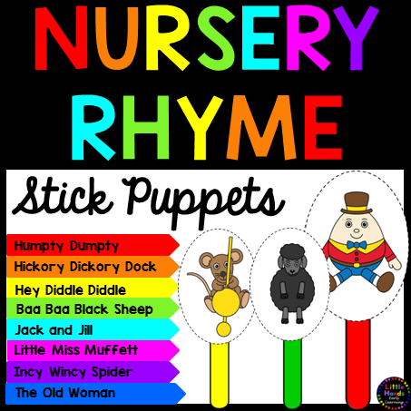 Nursery Rhyme Stick Puppets Bundle