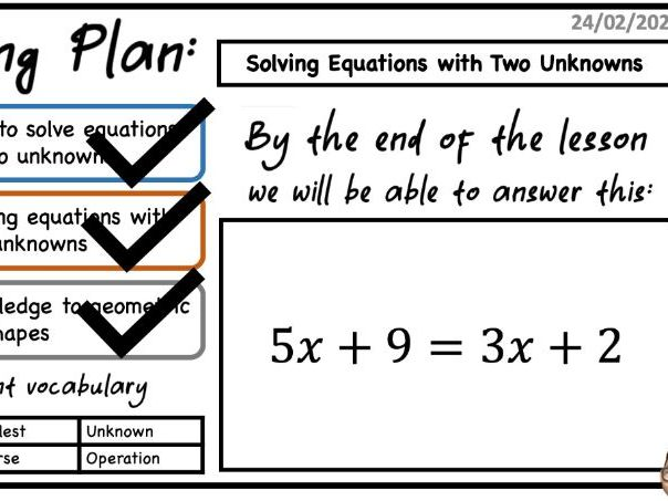 Solving Linear Equations 4 Lessons