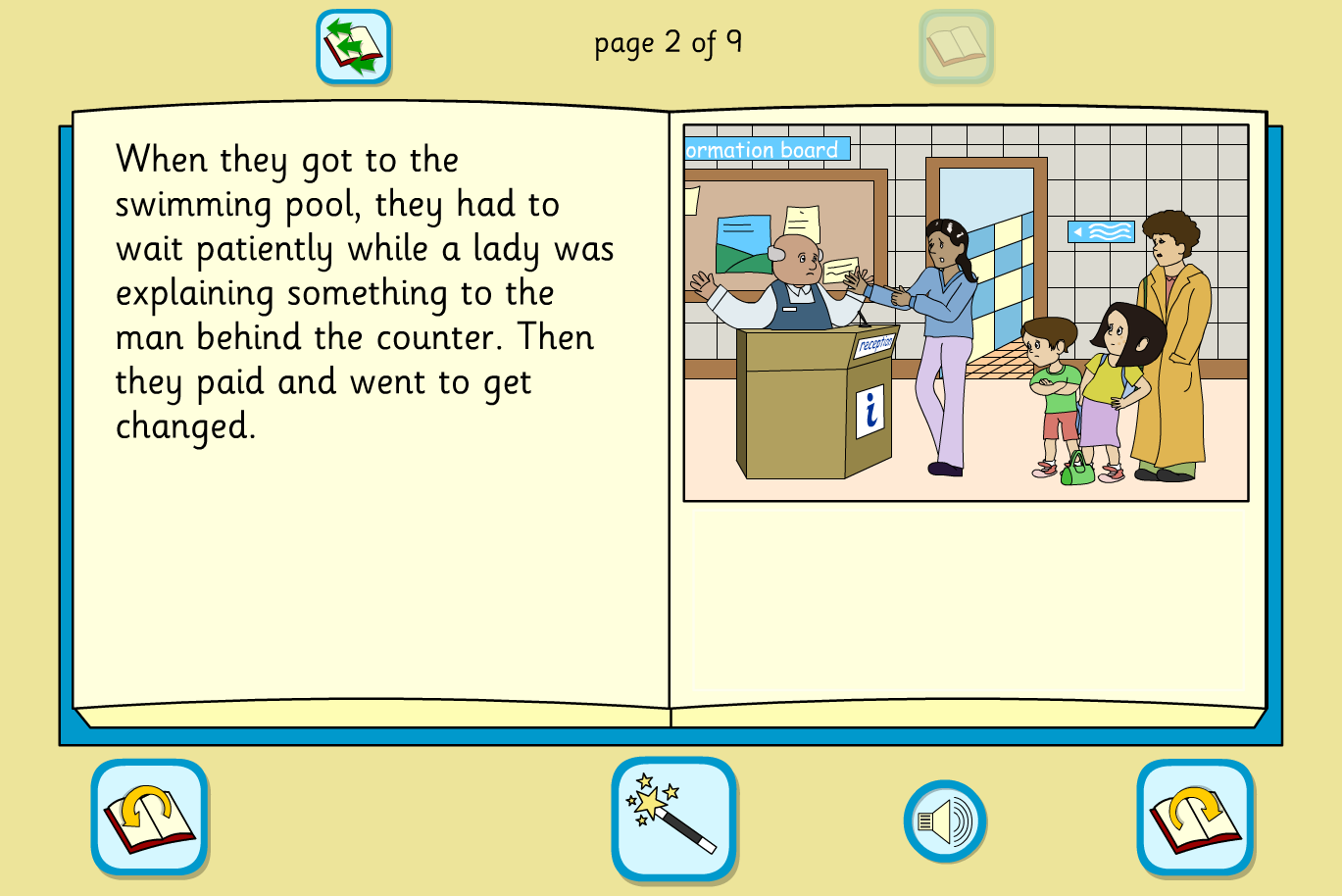 Sam Goes Swimming Interactive Storybook - Early Reader Level - KS1 Literacy
