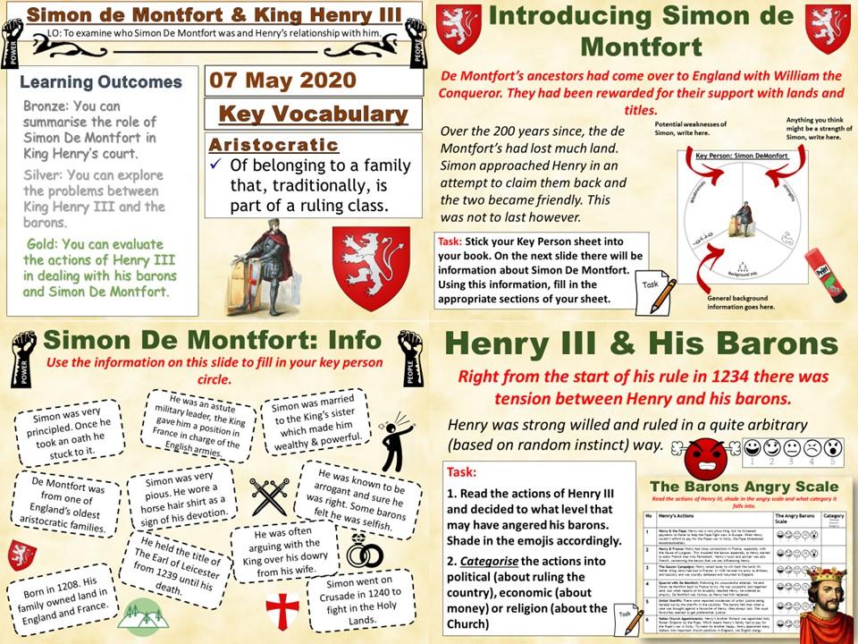 Power & The People: Simon de Montfort & Henry III