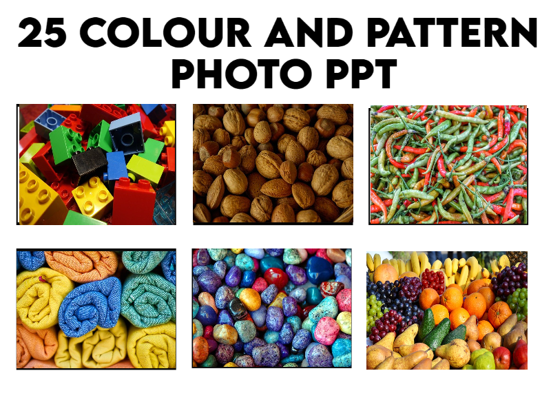 25 Colour and Pattern Photo PPT