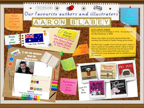 Library Poster - Aaron Blabey Australian Children's Author/Illustrator