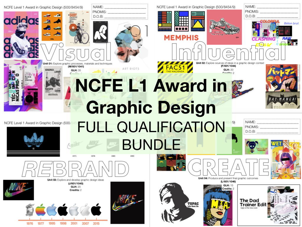 NCFE L1 Graphic Design FULL QUALIFICATION