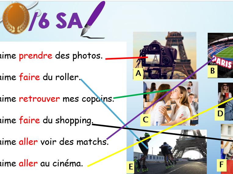 Studio vert 2- Module 2 Unit 2: Les jeunes parisiens (activities in Paris)
