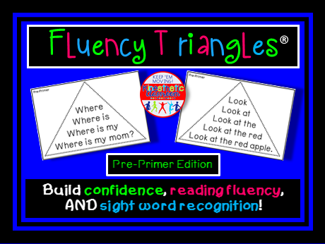 Reading Fluency - Fluency Triangles® for Pre-Primer Sight Words
