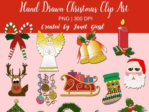 Hand Drawn Christmas Clip Art