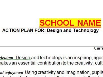 DT Action Plan Primary School