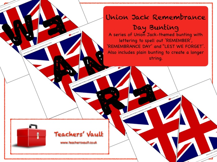 Union Jack Remembrance Day Bunting