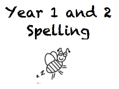 Word search spellings for year 1 and 2