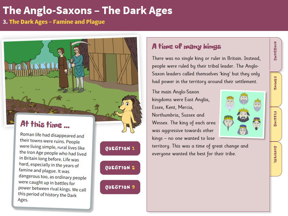 Famine and Plague - Interactive Teaching Book - Anglo-Saxon Britain KS2
