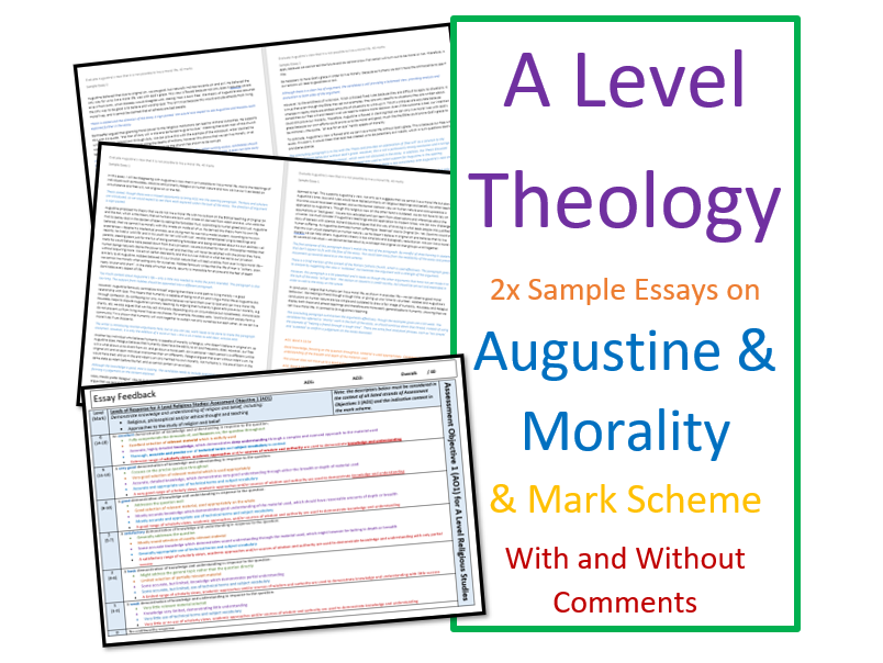 A Level Religious Studies: Model Essays for Theology - Augustine and Morality