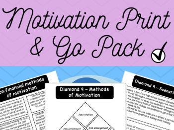 Motivation in Business - Printable Activities