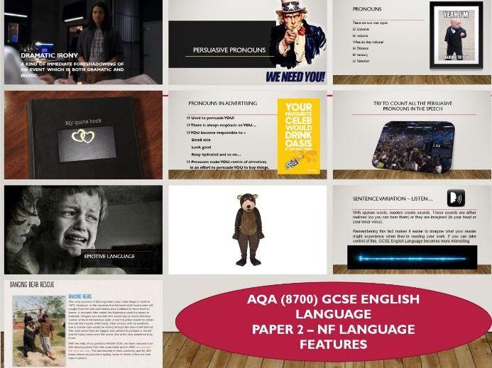 AQA 8700/2 GCSE English Language - Non-fiction Features
