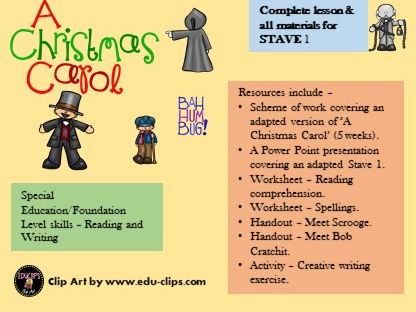 Foundation level skills/spec.ed/SEN reading and writing. A Christmas Carol