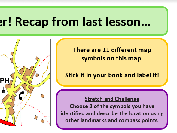 Relief - shape of the land - map skills - KS3 Geography