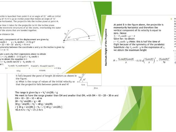 projectile motion theory and solved problems - a mini course