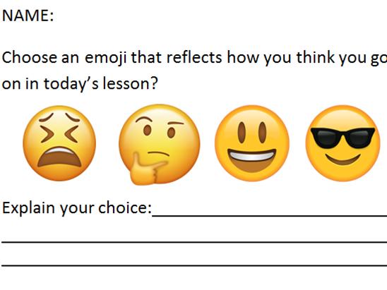 Emoji Exit Cards