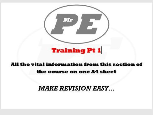 KEY INFO SHEET Training part 1