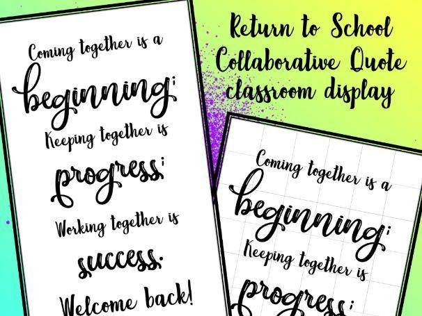 Return to school collaborative quote
