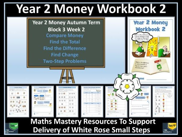 Money: Year 2 Money - Autumn - Block 3 - Week 2 - Workbook 2 - To Support Delivery of White Rose