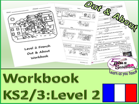 SIX SHEET PRIMARY KS2/3 FRENCH COPIABLE WORKBOOK: Accommodation, surroundings, opinions,