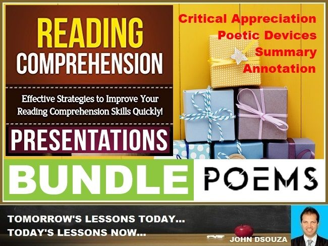 POEM READING COMPREHENSION PRESENTATIONS: BUNDLE