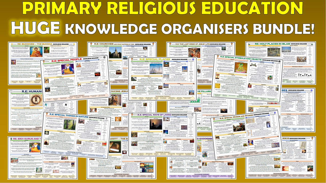 Huge Primary RE Knowledge Organisers Bundle!