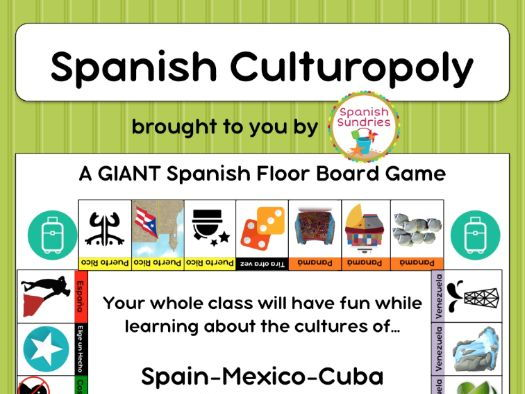 GIANT Spanish Culturopoly Board Game