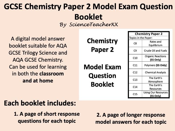 AQA GCSE Chemistry Paper 2 Revision Booklet