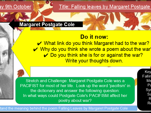 Falling Leaves by Margaret Postgate Cole