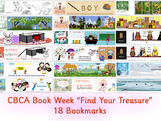 Find Your Treasure 18 Bookmark Pack CBCA Australia Book Week