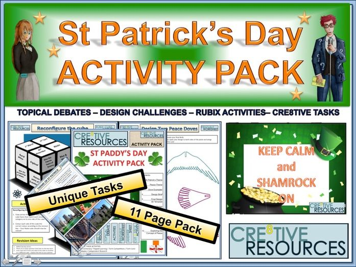 St Paddy's Day: Saint Patrick's Day Activity Pack