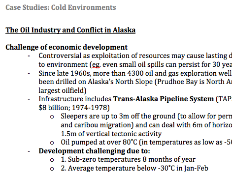 study of cold environment Cold environments case study the journey ahead old crow flats goal to be equipped to write high quality answers to relevant exam questions a exam questions.