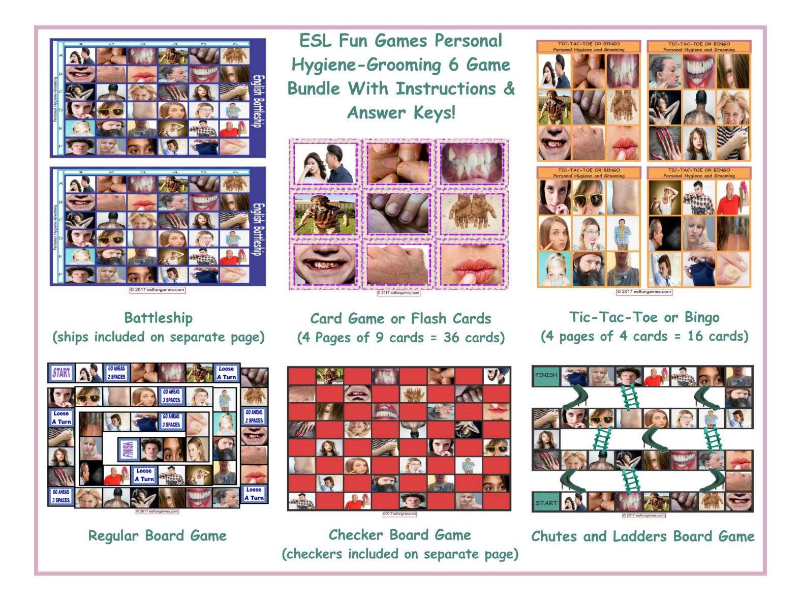 Personal Hygiene-Grooming 6 Game Bundle