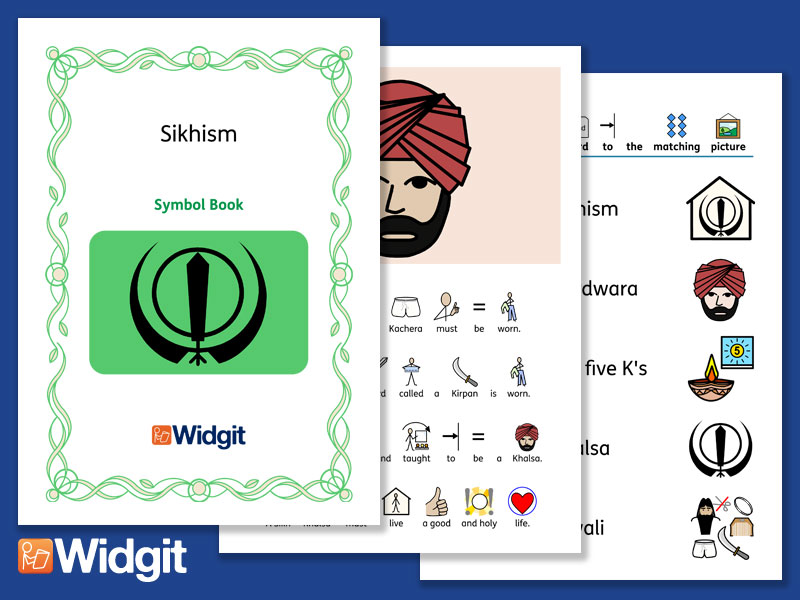 Sikhism - Books and Activities with Widgit Symbols