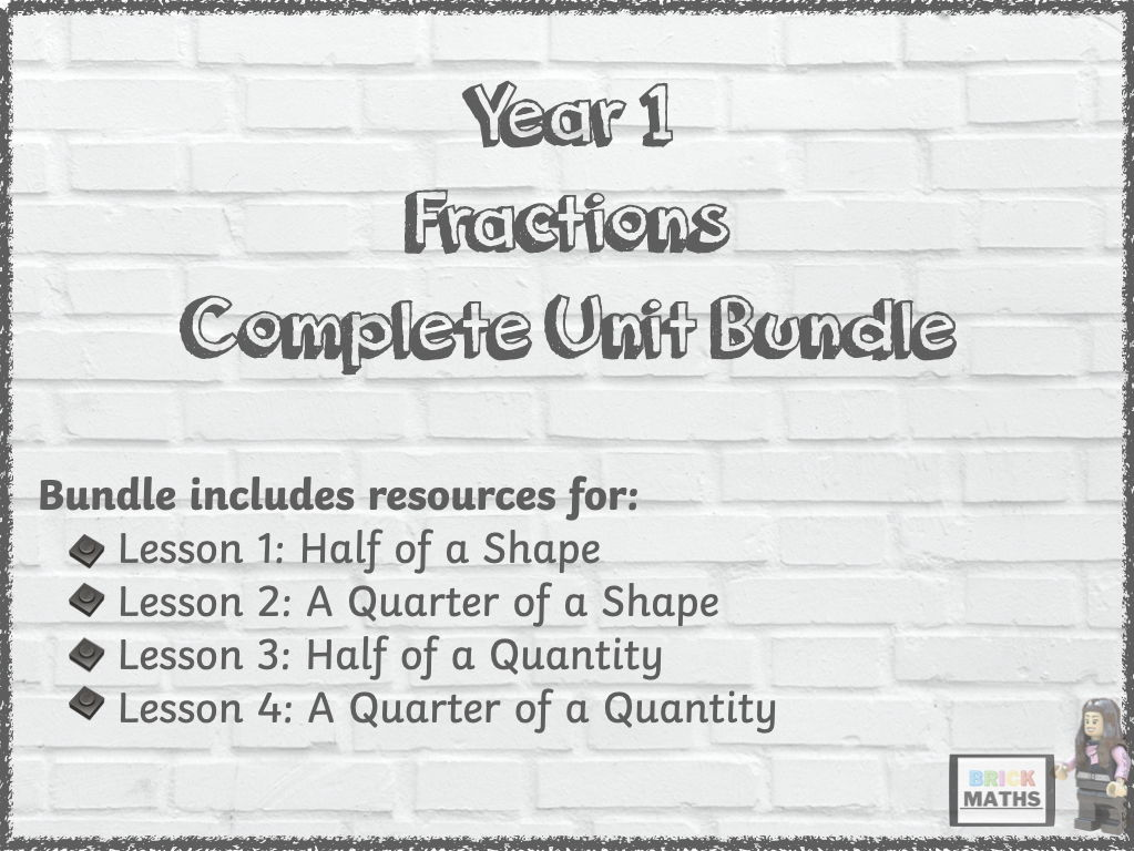 Y1 Fractions Unit Bundle - Year 1