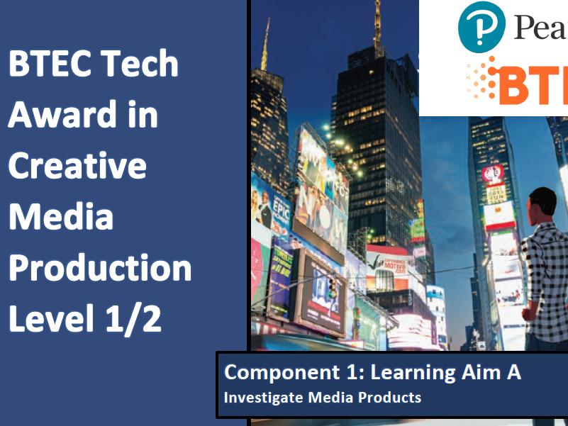 BTEC Tech Award in Creative Media: Component 1
